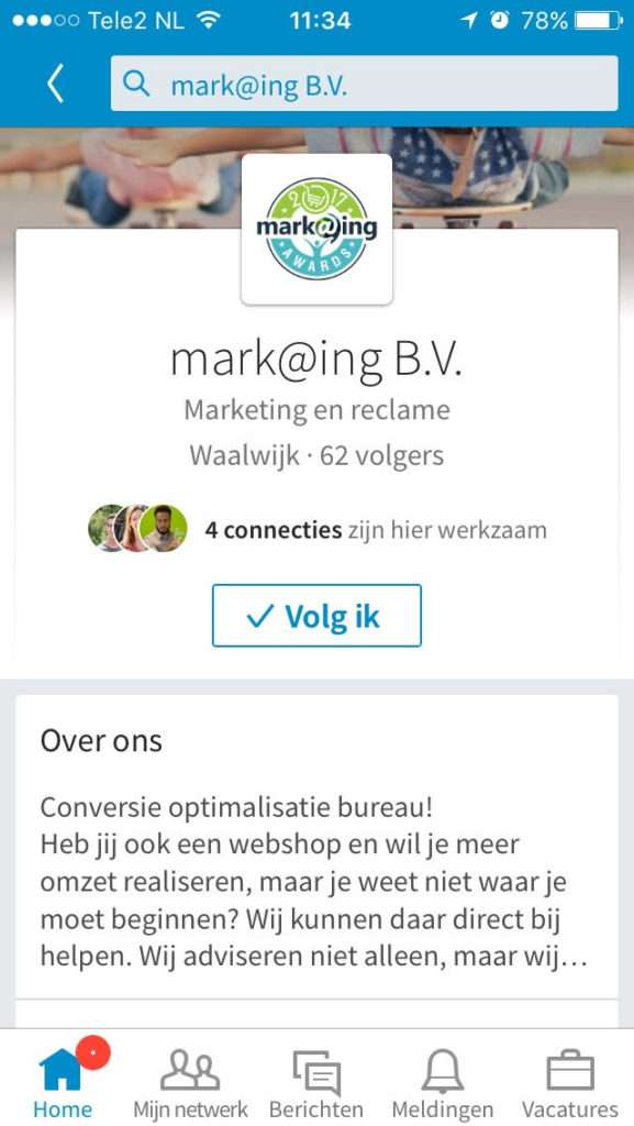 Linkedin mark@ing