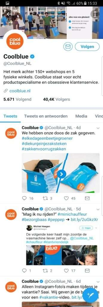 Twitter Coolblue