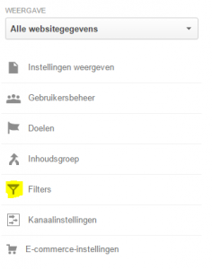 Google Analytics instellen - filters