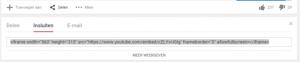 embedcode youtube