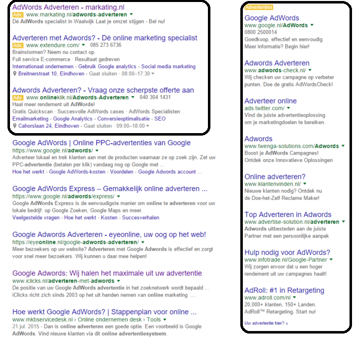 adwords-resultaten