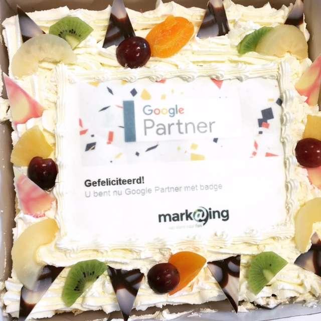 Google Partner badge taart