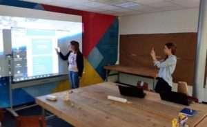 Voorbeeld van een sessie waarbij de medewerkers van mark@ing door de webshop van een klant navigeren.