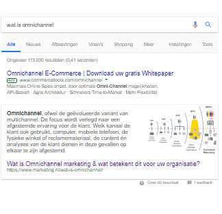 featured snippets voorbeeld