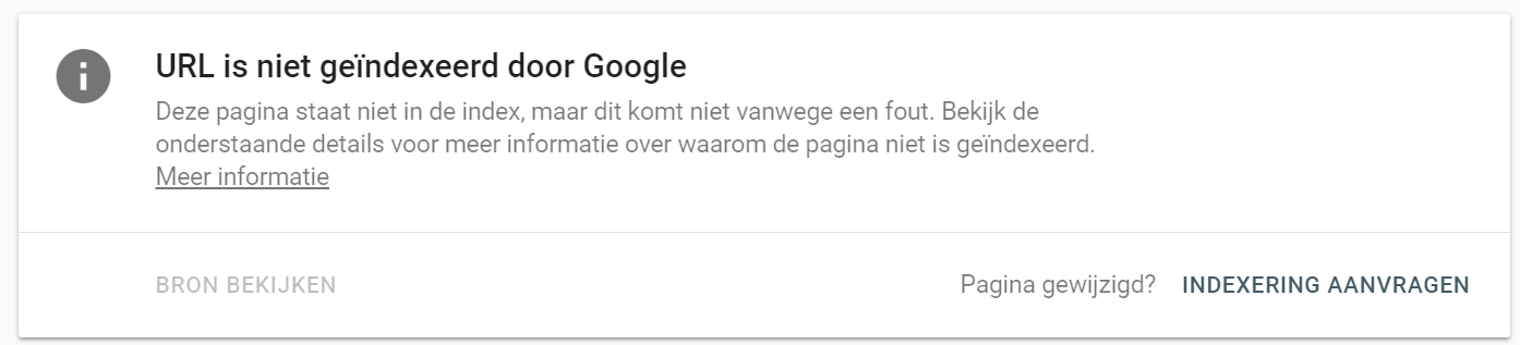Search console indexeren