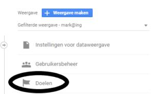 Google Analytics doelen